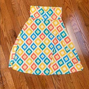 💙✨EUC Multicolored Lularoe Azure Skirt XS✨💙